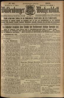 Waldenburger Wochenblatt, Jg. 62, 1916, nr 86