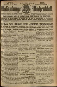 Waldenburger Wochenblatt, Jg. 62, 1916, nr 90
