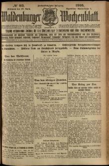 Waldenburger Wochenblatt, Jg. 62, 1916, nr 93