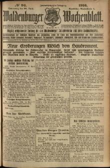 Waldenburger Wochenblatt, Jg. 62, 1916, nr 94