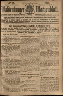 Waldenburger Wochenblatt, Jg. 62, 1916, nr 95