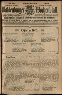 Waldenburger Wochenblatt, Jg. 62, 1916, nr 96