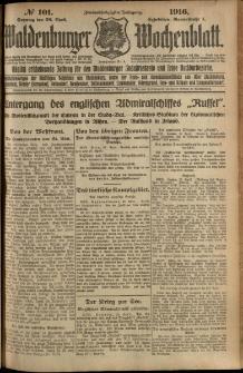 Waldenburger Wochenblatt, Jg. 62, 1916, nr 101