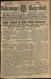 Waldenburger Wochenblatt, Jg. 62, 1916, nr 103