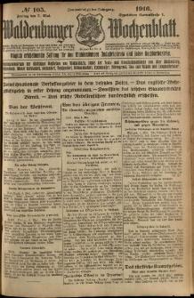Waldenburger Wochenblatt, Jg. 62, 1916, nr 105