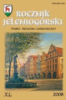 Rocznik Jeleniogórski : pismo regionu Karkonoszy, T. 40 (2008)