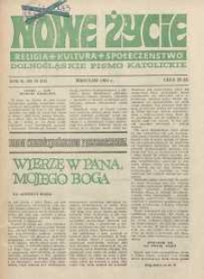 Nowe Życie :dolnośląskie pismo katolickie : religia, kultura, społeczeństwo, 1984, nr 10 (24)