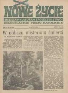 Nowe Życie :dolnośląskie pismo katolickie : religia, kultura, społeczeństwo, 1984, nr 20 (34)