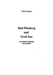 Bad Flinsberg und Groß Iser [Dokument elektroniczny]