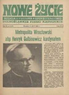 Nowe Życie :dolnośląskie pismo katolickie : religia, kultura, społeczeństwo, 1985, nr 9 (47)