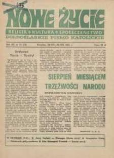 Nowe Życie :dolnośląskie pismo katolickie : religia, kultura, społeczeństwo, 1985, nr 15 (44)