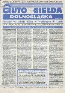 Auto Giełda Dolnośląska : pismo dla kupujących i sprzedających samochody, R. 2, 1993, nr 1 (38) [11.01]