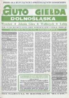 Auto Giełda Dolnośląska : pismo dla kupujących i sprzedających samochody, R. 2, 1993, nr 9 (46) [8.03]