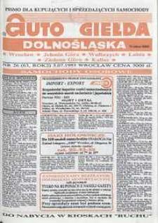 Auto Giełda Dolnośląska : pismo dla kupujących i sprzedających samochody, R. 2, 1993, nr 26 (63) [5.07]
