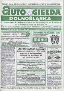 Auto Giełda Dolnośląska : pismo dla kupujących i sprzedających samochody, R. 2, 1993, nr 32 (69) [16.08]