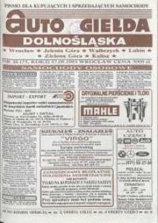 Auto Giełda Dolnośląska : pismo dla kupujących i sprzedających samochody, R. 2, 1993, nr 38 (75) [27.09]