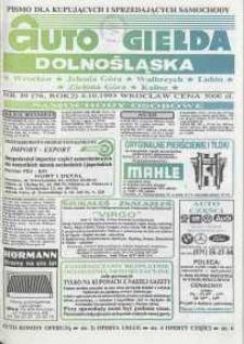 Auto Giełda Dolnośląska : pismo dla kupujących i sprzedających samochody, R. 2, 1993, nr 39 (76) [4.10]