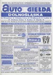 Auto Giełda Dolnośląska : pismo dla kupujących i sprzedających samochody, R. 2, 1993, nr 41 (78) [18.10]