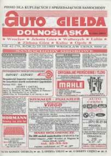 Auto Giełda Dolnośląska : pismo dla kupujących i sprzedających samochody, R. 2, 1993, nr 42 (79) [25.10]