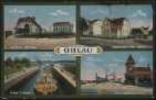 Ohlau - Tiergarten, Baumgarten, Grosse Schleuse, Zollhaus [Dokument ikonograficzny]