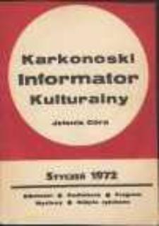 Karkonoski Informator Kulturalny, styczeń 1972