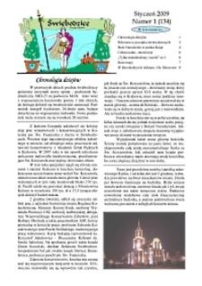 Świebodzice - Dzieje Miasta, 2009, nr 1 (134) [Dokument elektroniczny]