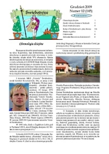 Świebodzice - Dzieje Miasta, 2009, nr 12 (145) [Dokument elektroniczny]