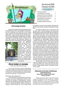 Świebodzice - Dzieje Miasta, 2008, nr 4 (125) [Dokument elektroniczny]