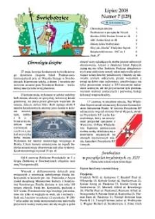 Świebodzice - Dzieje Miasta, 2008, nr 7 (128) [Dokument elektroniczny]