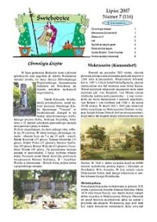 Świebodzice - Dzieje Miasta, 2007, nr 7 (116) [Dokument elektroniczny]