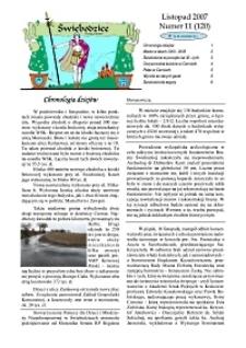 Świebodzice - Dzieje Miasta, 2007, nr 11 (120) [Dokument elektroniczny]