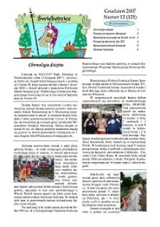 Świebodzice - Dzieje Miasta, 2007, nr 12 (121) [Dokument elektroniczny]