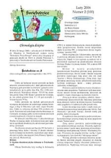 Świebodzice - Dzieje Miasta, 2006, nr 2 (100) [Dokument elektroniczny]