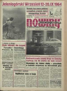 Nowiny Jeleniogórskie : magazyn ilustrowany ziemi jeleniogórskiej, R. 7, 1964, nr 37 (337)