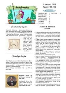 Świebodzice - Dzieje Miasta, 2005, nr 11 (97) [Dokument elektroniczny]