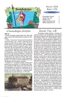 Świebodzice - Dzieje Miasta, 2004, nr 1 (75) [Dokument elektroniczny]