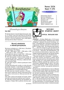 Świebodzice - Dzieje Miasta, 2004, nr 3 (77) [Dokument elektroniczny]