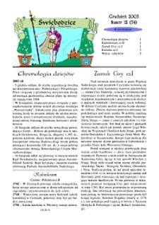 Świebodzice - Dzieje Miasta, 2003, nr 12 (74) [Dokument elektroniczny]