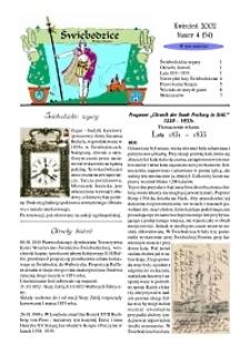 Świebodzice - Dzieje Miasta, 2002, nr 4 (54) [Dokument elektroniczny]