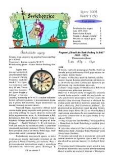 Świebodzice - Dzieje Miasta, 2002, nr 7 (57) [Dokument elektroniczny]
