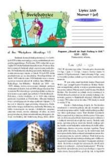 Świebodzice - Dzieje Miasta, 2001, nr 7 (45) [Dokument elektroniczny]
