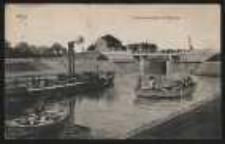 Ohlau – Schleusenbrücke mit Dampfer [Dokument ikonograficzny]