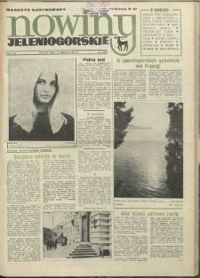 Nowiny Jeleniogórskie : magazyn ilustrowany ziemi jeleniogórskiej, R. 15, 1972, nr 33 (744)