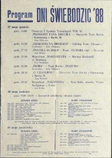Program dni Świebodzic '88