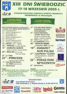 XIII Dni Świebodzic. 17-18 wrzesień 2005 r.