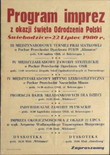 Program imprez z okazji święta Odrodzenia Polski