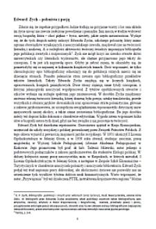 Edward Zych - polonista z pasją [Dokument elektroniczny]