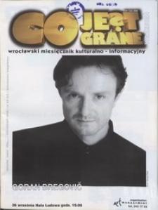 Co Jest Grane : wrocławski miesięcznik kulturalno-informacyjny, 1998, nr 9 (55)