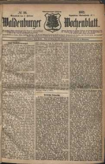 Waldenburger Wochenblatt, Jg. 28, 1882, nr 10