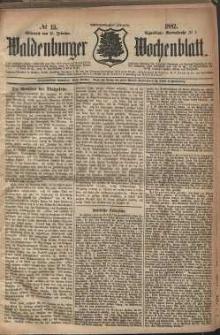 Waldenburger Wochenblatt, Jg. 28, 1882, nr 13